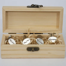Load image into Gallery viewer, Wedding Party Cufflinks Set - Groom, Bestman and Groomsman Gift Box
