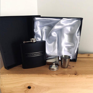 Stainless Steel Hip Flask - Groomsman