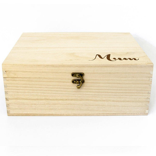 Mum Timber Keepsake Box - (Empty)