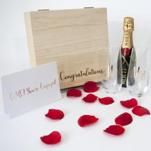 Load image into Gallery viewer, Personalised Engagement Present - Timber Keep Sake Gift Box