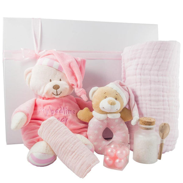 Baby Girl Goodnight Bear gift Box - PrettyLittleGiftBox
