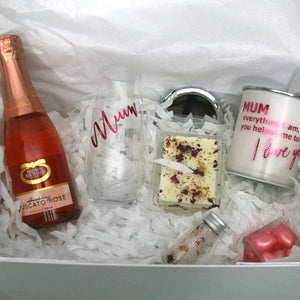 "Spoil Mum Personalised Mothers Day ""Pretty in Pink"" Gift Hamper - PrettyLittleGiftBox"