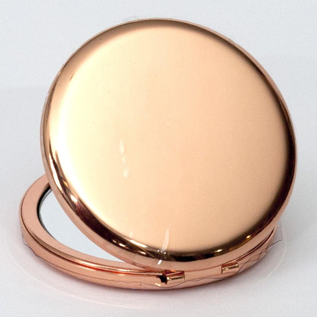 Rose Gold Metallic Compact Mirror