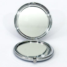 Load image into Gallery viewer, Silver Metallic Compact Mirror