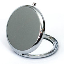 Load image into Gallery viewer, silver compact mirror