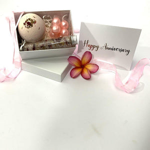 Relaxing Bath Happy Anniversary Personalised Gift Box