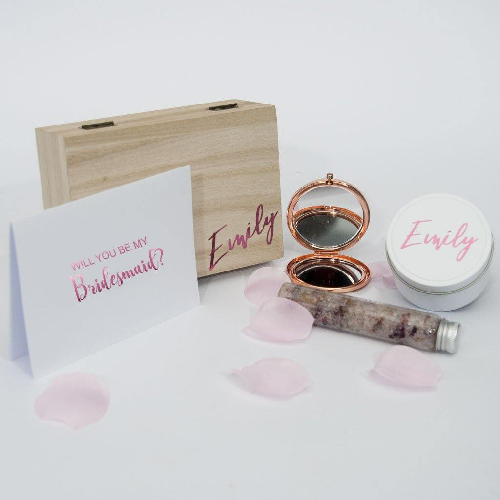 Will You Be Bridesmaid? - Personalised Timber Proposal Gift Box