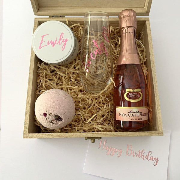 Personalised Birthday Hamper - Timber Gift Box