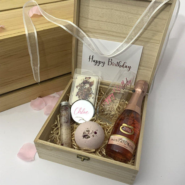 """Gift From the Heart"" Happy Birthday Personalised Luxury Hamper - PrettyLittleGiftBox"