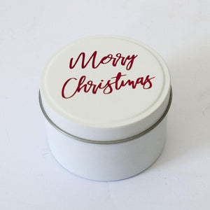 Personalised 100% soy candle in a tin