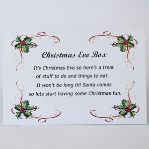 Christmas eve box certificate