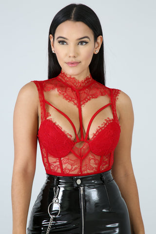 0bbba9e66c All Eyes On Me Bodysuit - Red