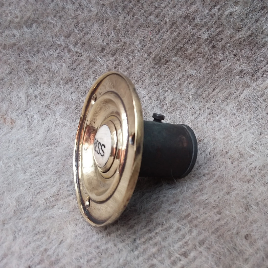 Brass and 'Porcelain' Bell Push circa 1920.