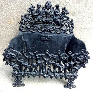 Antique French Cast Iron Firebasket, circa 1880-1900 - THE VINTAGE LOOK Henley-on-Thames
