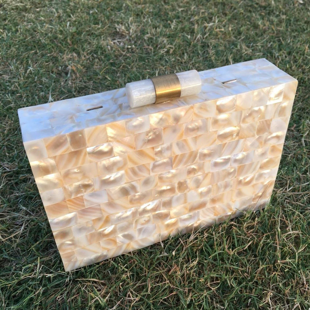 Beautiful Mother of Pearl Clutch Bag - THE VINTAGE LOOK Henley-on-Thames