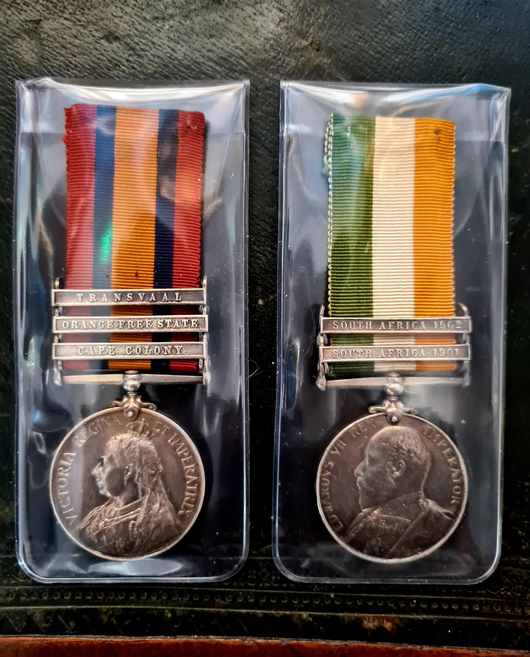Boer War Suffolk Regiment Pair of Medals - The Vintage Look Henely