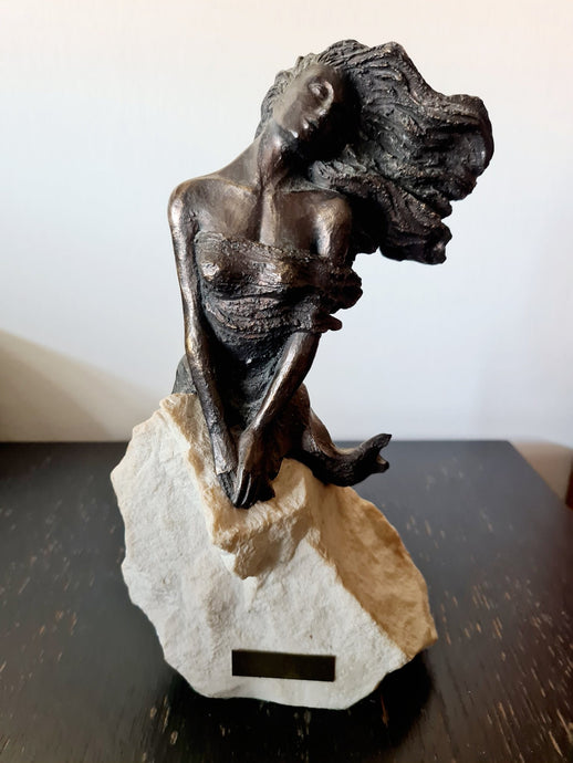 Bronze Sculpture on Stone by Carosa Disseny - THE VINTAGE LOOK Henley-on-Thames