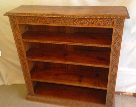 Carved Oak Bookcase - THE VINTAGE LOOK Henley-on-Thames