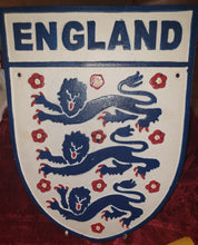 Load image into Gallery viewer, Cast Iron England Three Lions Sign - The Vintage Look Henely