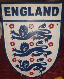Cast Iron England Three Lions Sign - The Vintage Look Henely