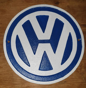 Cast Iron VW Sign 24cm Diameter - THE VINTAGE LOOK Henley-on-Thames