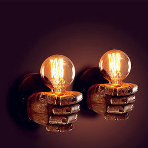 Creative LED Retro Resin Fist Wall Lamp - THE VINTAGE LOOK Henley-on-Thames