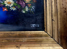 Load image into Gallery viewer, Floral Oil Painting on board framed - THE VINTAGE LOOK Henley-on-Thames