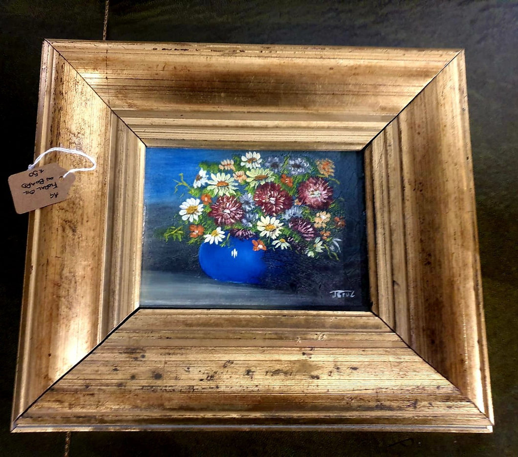 Floral Oil Painting on board framed - THE VINTAGE LOOK Henley-on-Thames