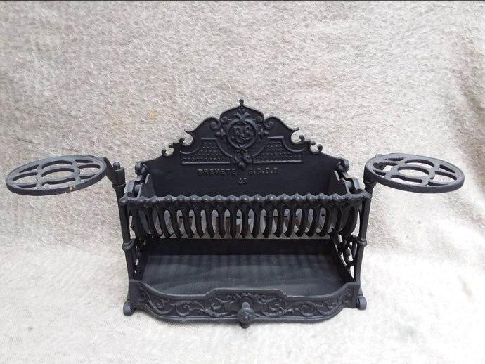 French Antique Cast Iron Firebasket Circa 1900-20. - THE VINTAGE LOOK Henley-on-Thames