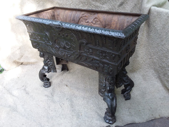 French Cast Iron Planter. Circa 1900 - The Vintage Look Henely