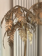 Load image into Gallery viewer, Gold Palm Tree Floor Light :Size 186cm(H) 79cm (W) - The Vintage Look Henely