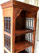 "Load image into Gallery viewer, Heavy Bookcase With Wrought Iron Panels (6"" x 2.2""x 15"") - THE VINTAGE LOOK Henley-on-Thames"