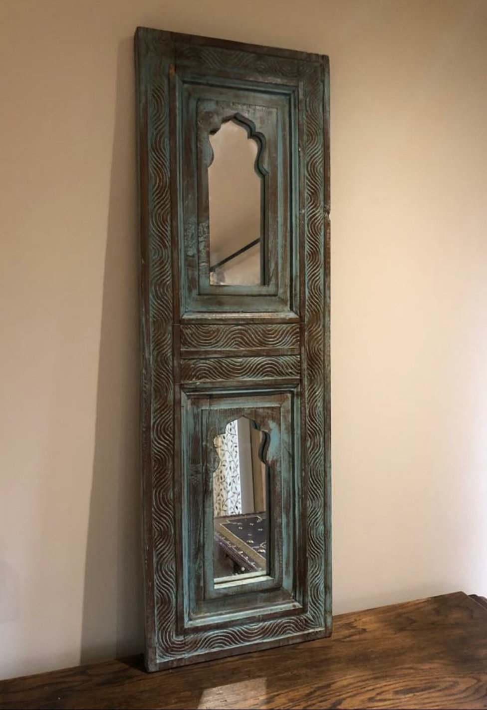 Indian Carved Mirror - The Vintage Look Henely