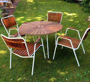 Mid Century Danish Teak Garden Set  - THE VINTAGE LOOK Henley-on-Thames