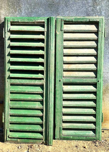 Pair of Antique Window Shutters 94cm Tall - The Vintage Look Henely