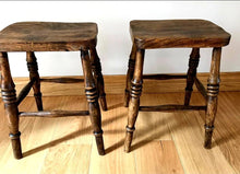 Load image into Gallery viewer, Pair of Elm Stools - THE VINTAGE LOOK Henley-on-Thames