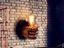 Load image into Gallery viewer, Creative LED Retro Resin Fist Wall Lamp