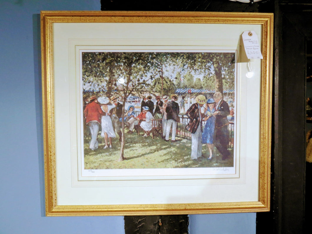 Rare Henley Regatta Painting by Sherree Valentine Daines - The Vintage Look Henely