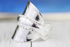 Sterling Silver Spoon Ring #4 (free resizing service) - THE VINTAGE LOOK Henley-on-Thames