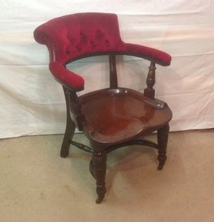 Victorian Mahogany Desk Library Parlour Chair - THE VINTAGE LOOK Henley-on-Thames