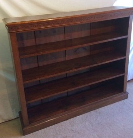 Victorian Oak Open Front Bookcase - THE VINTAGE LOOK Henley-on-Thames