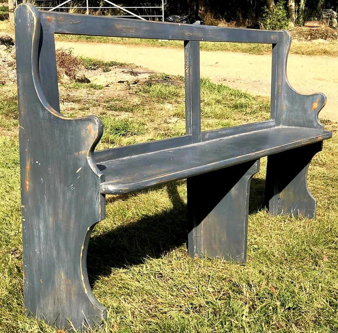 Vintage 6ft Painted Rustic Farmhouse Bench - THE VINTAGE LOOK Henley-on-Thames