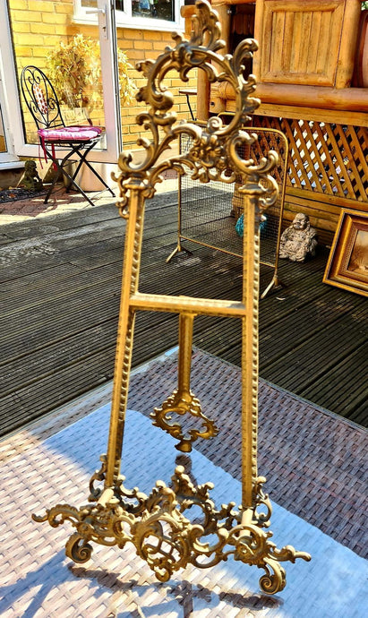 Vintage Brass Picture Stand 56cm High - THE VINTAGE LOOK Henley-on-Thames