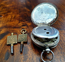 Load image into Gallery viewer, Vintage H Samuel Silver Pocket Watch with keys - THE VINTAGE LOOK Henley-on-Thames