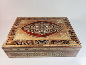 Vintage Luxurious Syrian Mosaic Multipurpose Box - THE VINTAGE LOOK Henley-on-Thames