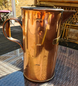 Vintage Mesmerising Copper Jug 27cm high - THE VINTAGE LOOK Henley-on-Thames