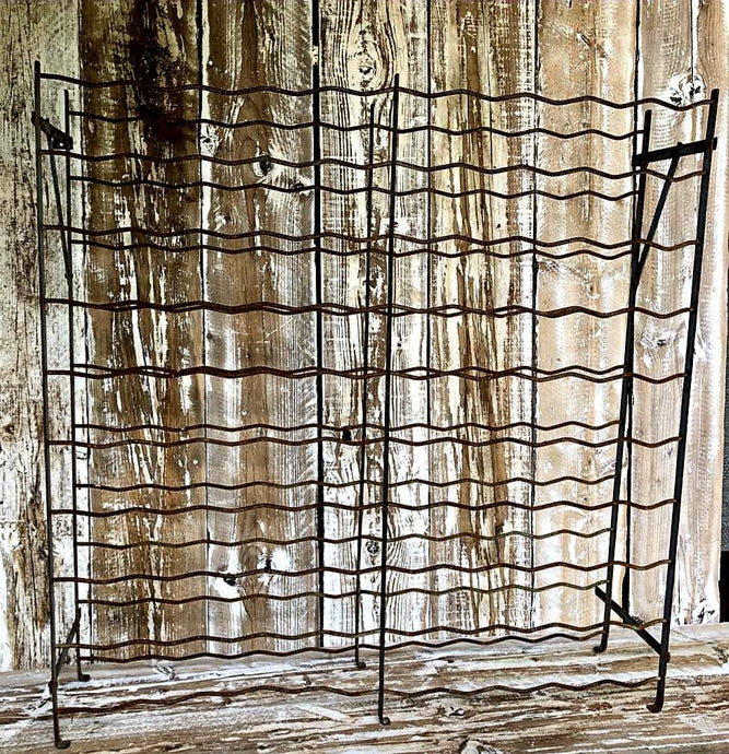 Vintage Rusty Wine Rack (100cm x 102cm x 29cm) - THE VINTAGE LOOK Henley-on-Thames