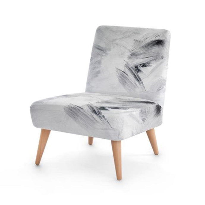 White Abstract Accent Occasional Chair - THE VINTAGE LOOK Henley-on-Thames