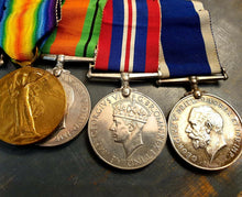 Load image into Gallery viewer, WWI / WWII East Kent Regiment Group of 6 Medals - THE VINTAGE LOOK Henley-on-Thames