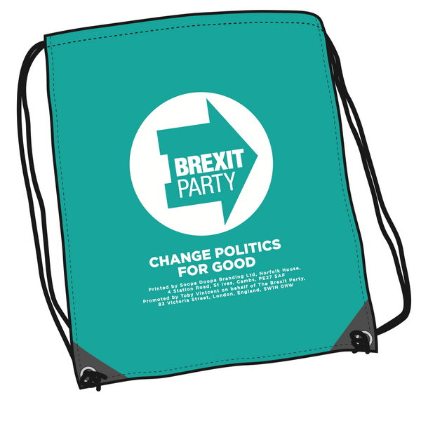 OFFICIAL Brexit Party Drawstring Bag
